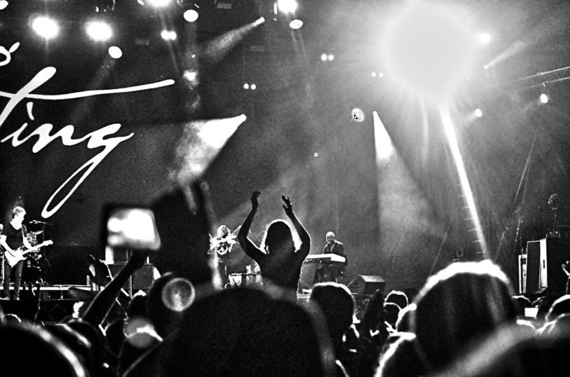 Sting concert noir et blanc