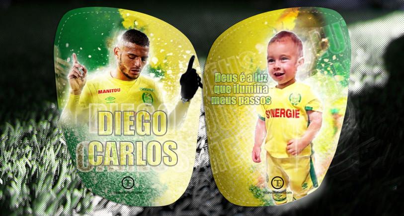 Protège tibia football Diego Carlos et enfant