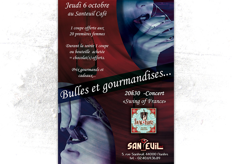 Flyer soirée champagne Santeuil Nantes