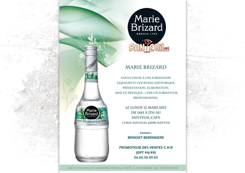 Flyer de communication Marie Brizard Santeuil