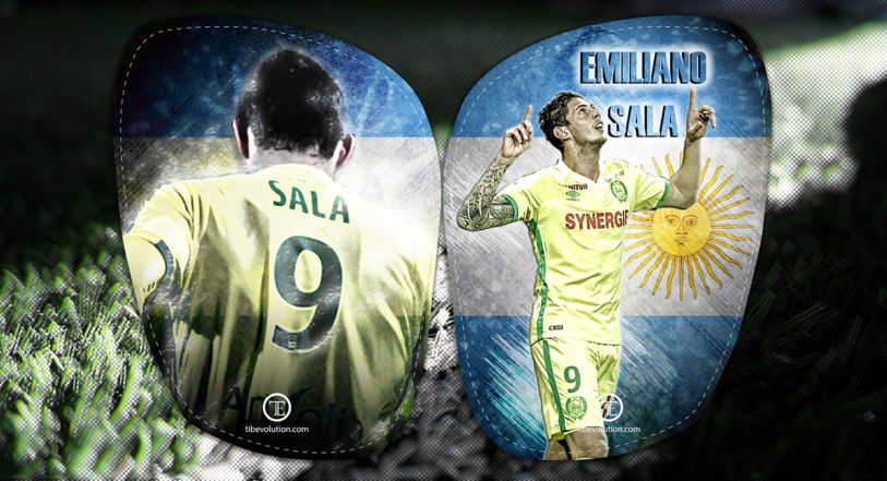 Protège tibia football Emiliano Sala