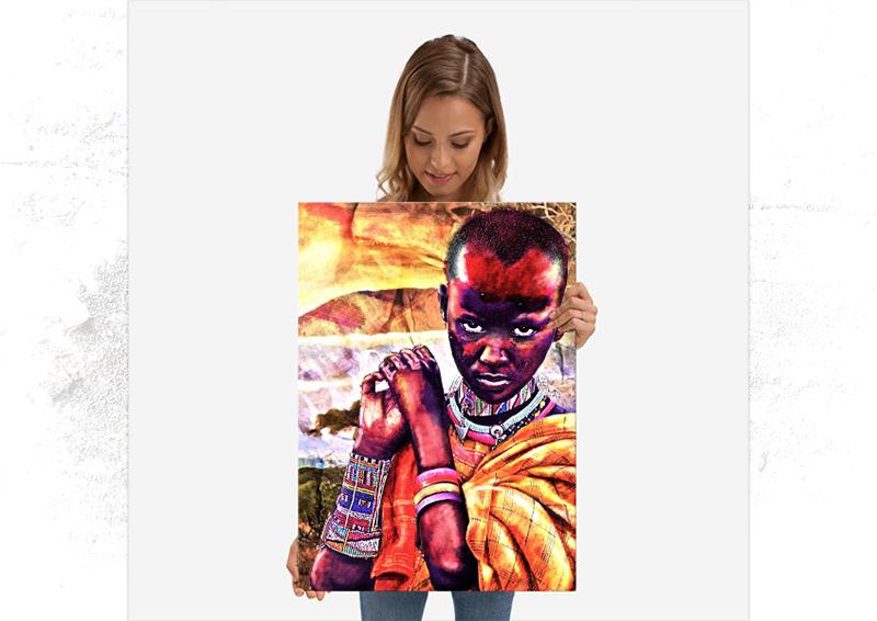 Portrait enfant africain Displate