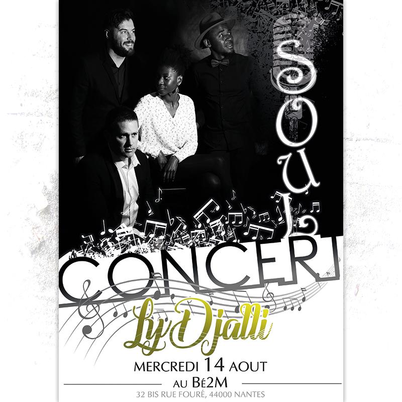 Affiche concert musique Soul